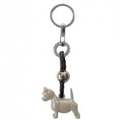Nøglering - West Highland Terrier (gråbrun)