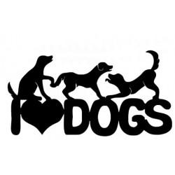 Klistermærke - I love dogs