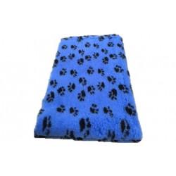 Vetbed rulle med 10 meter - blå med poter