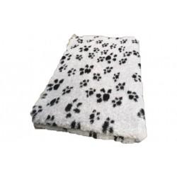 Vetbed rulle med 10 meter - lys grå med poter