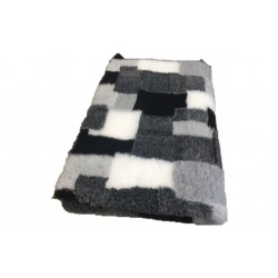 Vetbed rulle med 10 meter - grå patchwork