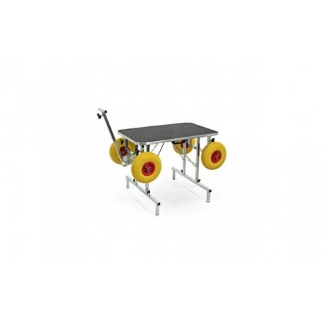 Trimme bord, sammenklappelig - med hjul