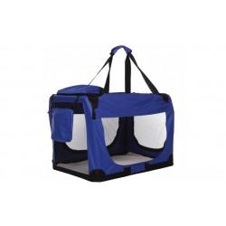 Topmast stof hundebur - blå