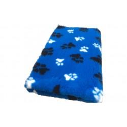 Vetbed - poter - blå med poter