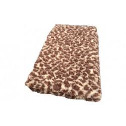 Vetbed - brun leopard