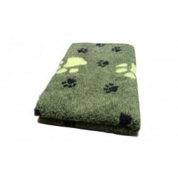 Vetbed rulle med 10 meter - grøn med poter