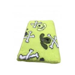 Vetbed - hundehoveder og kødben - Limegrøn