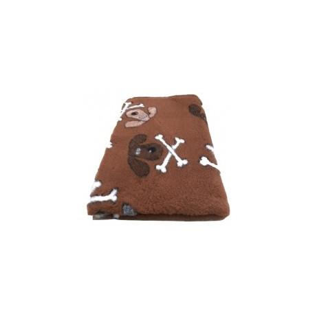 Vetbed - hundehoveder og kødben - brun