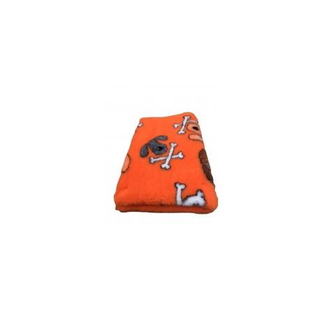 Vetbed - hundehoveder og kødben - orange
