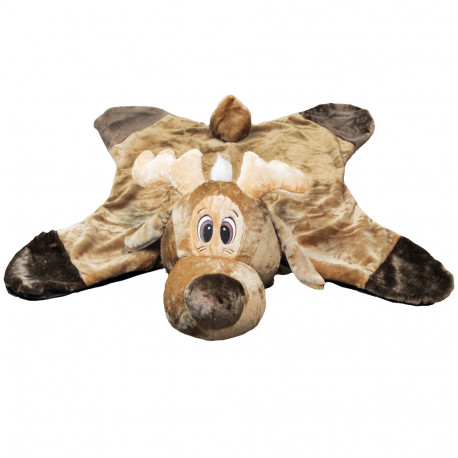 Tæppe med rensdyr hoved