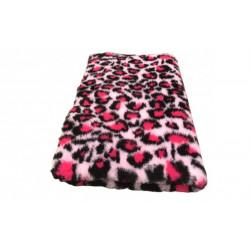 Vetbed - leopard - rosa